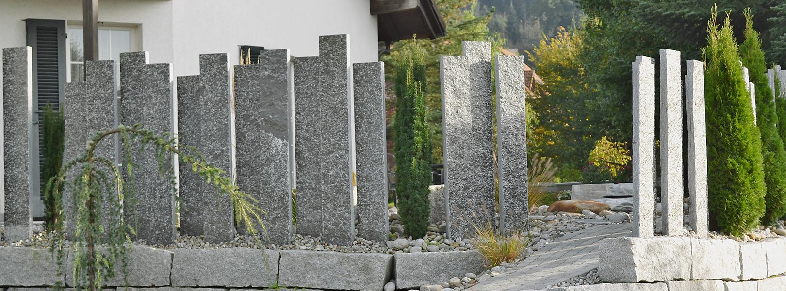 Sichtschutz Pergola Natura Stein Ag